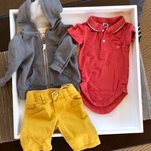 Other - Janie & Jack onesie,Gymboree pants,Carter's zip-up